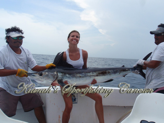 Isla Mujeres white marlin fishing