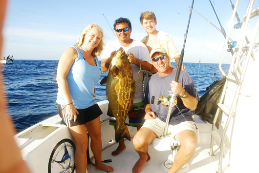 grouper fishing cancun mexico