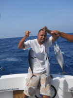 cancun shared fishing- bonitos